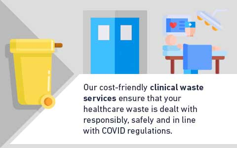 Our cost-friendly clinical waste services ensure that your healthcare waste is dealt with responsibly, safely and in line with the law.